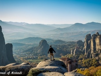 Meteora - an unusual place in Greece where monks love extreme sports!